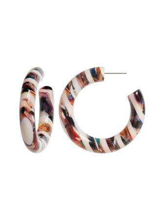 Resin Round Hoop Earrings | Banana Republic