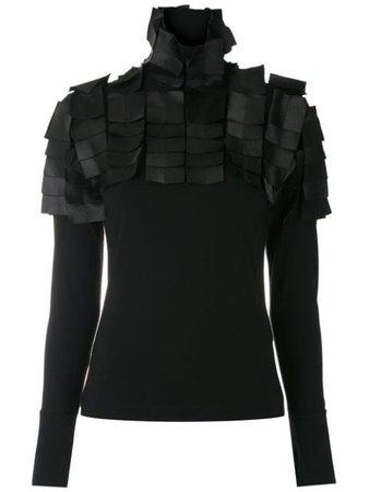Black Gloria Coelho high neck blouse - Farfetch