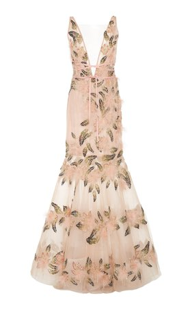 large_marchesa-pink-tulle-fit-and-flare-gown-with-plunging-v-neckline.jpg (1598×2560)