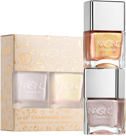 Champagne Shine Nail Polish Duo