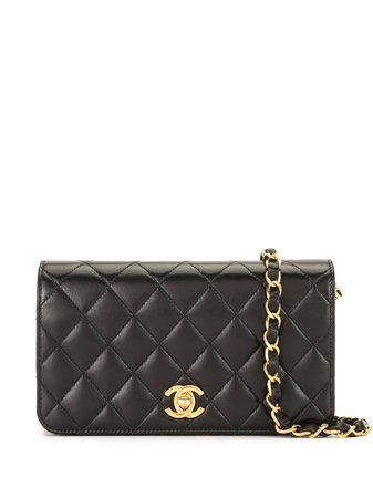 Chanel Pre-Owned 2002 Quilted CC Shoulder Bag - Farfetch