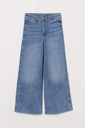 Denim Culottes High waist - Blue