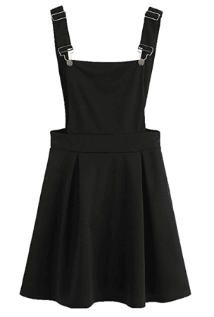 Black pinafore apron dress kawaii dyst