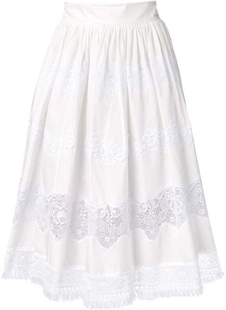 lace panel skirt