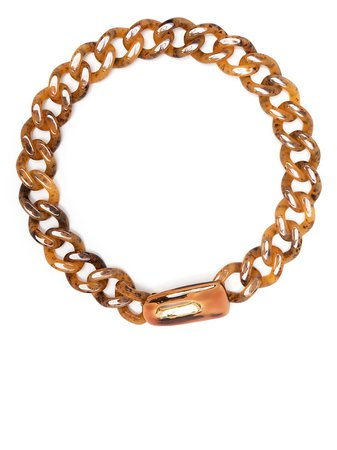 Shop Marni curb-chain chunky necklace with Express Delivery - FARFETCH