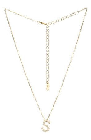 Ettika Crystal Initial Pendant Necklace | Nordstrom