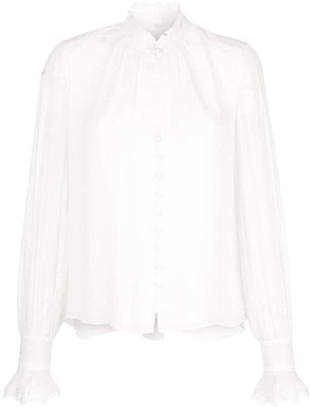 ruffled neck blouse