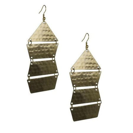 Earrings | Shop Women's Gold Plated Geometric Earring at Fashiontage | E611_CLGO