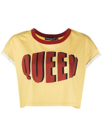 Dolce & Gabbana Queen Cropped T-shirt - Farfetch