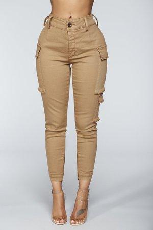 Kalley Cargo Pants - Tan