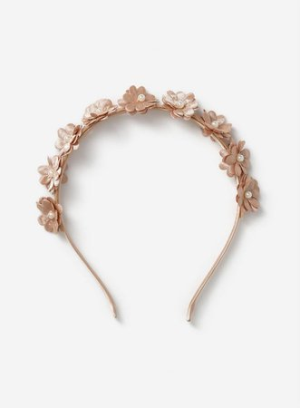 Flower and Pearl Headband | Dorothy Perkins gold