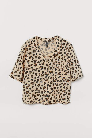 Short-sleeved Shirt - Beige