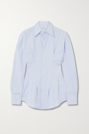 Wright Le Chapelain | Pleated cotton-poplin shirt | NET-A-PORTER.COM