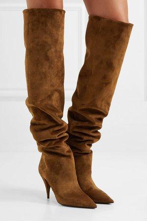 SAINT LAURENT | Kiki suede over-the-knee boots | NET-A-PORTER.COM