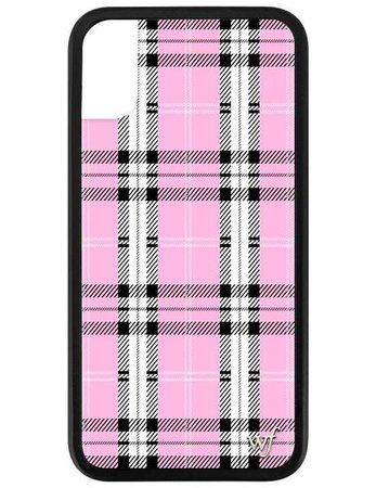 Pink Plaid iPhone X/Xs Case – Wildflower Cases