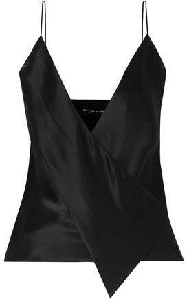 Wrap-effect Silk-satin Camisole