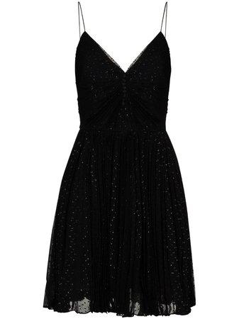 Saint Laurent glitter-effect Mini Dress - Farfetch