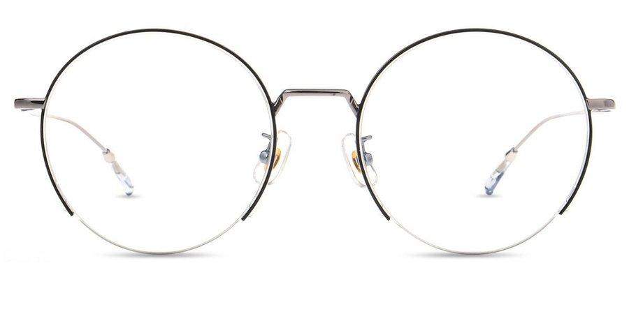 Unisex semi-rimless metal eyeglasses - GD1369M   Firmoo.com