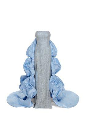 Celeste Swarovski Crystal Strapless Column Gown by Prabal Gurung | Moda Operandi