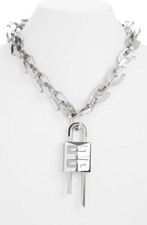 Givenchy Lock G Link Necklace   Nordstrom
