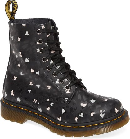 Dr. Martens 1460 Pascal Hearts Lace-Up Boot (Women) | Nordstrom