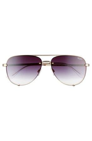 Quay Australia High Key Mini 59mm Rimless Aviator Sunglasses | Nordstrom