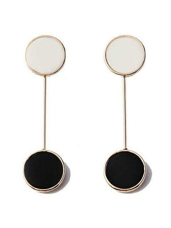 Vintage Velvet Black And White Earrings – WhatsMode