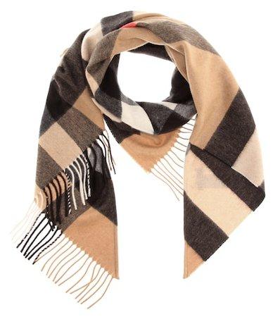 Check cashmere scarf