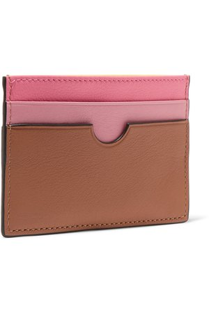 Loewe | Color-block textured-leather cardholder | NET-A-PORTER.COM