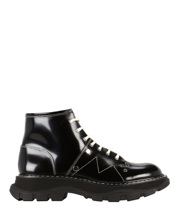 Alexander McQueen | Tread Lace-Up Leather Boots | INTERMIX®