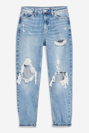 Bleach Destroy Rip Mom Jeans | Topshop