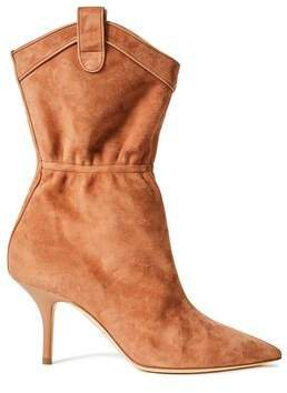 Daisy 70 Leather-trimmed Suede Ankle Boots