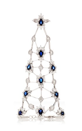 Diamond And Sapphire Ring And Bracelet Chain by Yeprem | Moda Operandi