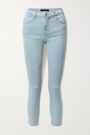 Alana Cropped High-rise Skinny Jeans - Light denim