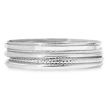 Silver Tone Bangle Bracelets