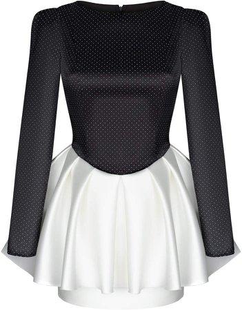 Rasario Layered Satin Mini Dress