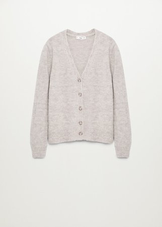 Oversized cardigan with buttons - Women | Mango USA