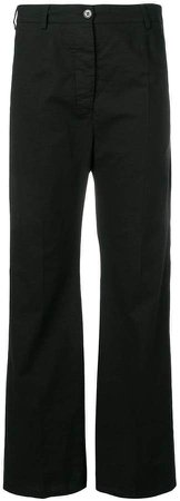 high waisted straight trousers