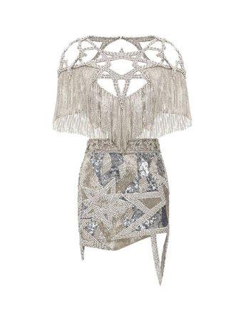 Silver Jeweled Dress