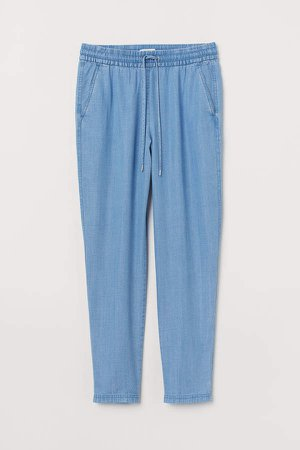Pull-on Lyocell-blend Pants - Blue