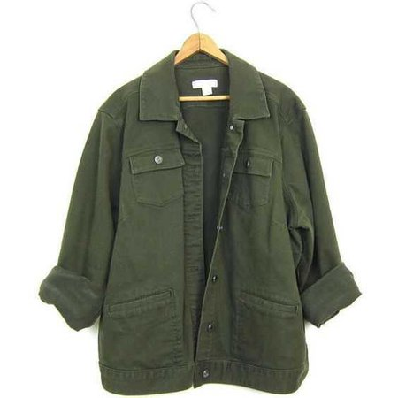 Vintage Army Green Jean Jacket