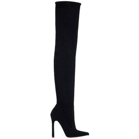 Zara Over Knee Pointy Suede Leather Thigh High Heel Pointed.
