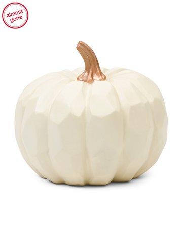11in Decorative Resin Pumpkin With Handle - Fall Decor - T.J.Maxx