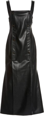 Nanushka Allie Double-Breasted Vegan Leather Dress