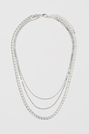 Three-strand necklace - Silver-coloured - Ladies | H&M GB