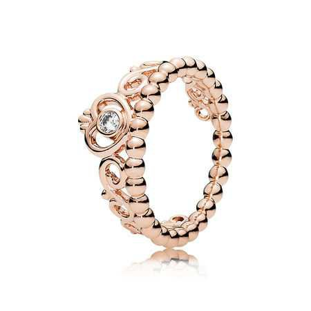 My Princess Tiara Ring, PANDORA Rose™ & Clear