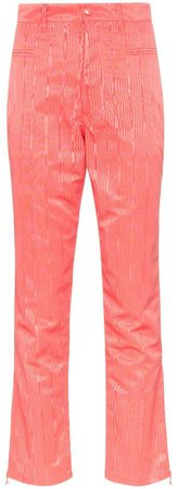 textural-jacquard cropped trousers