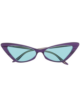 Gucci Eyewear Gg0708S Cat-Eye Sunglasses GG0708S004 Purple   Farfetch