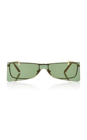 Gucci Sunglasses Gold-Tone Metal Cat-Eye Sunglasses