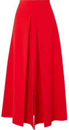 Hattori Pleated Cady Skirt - Red